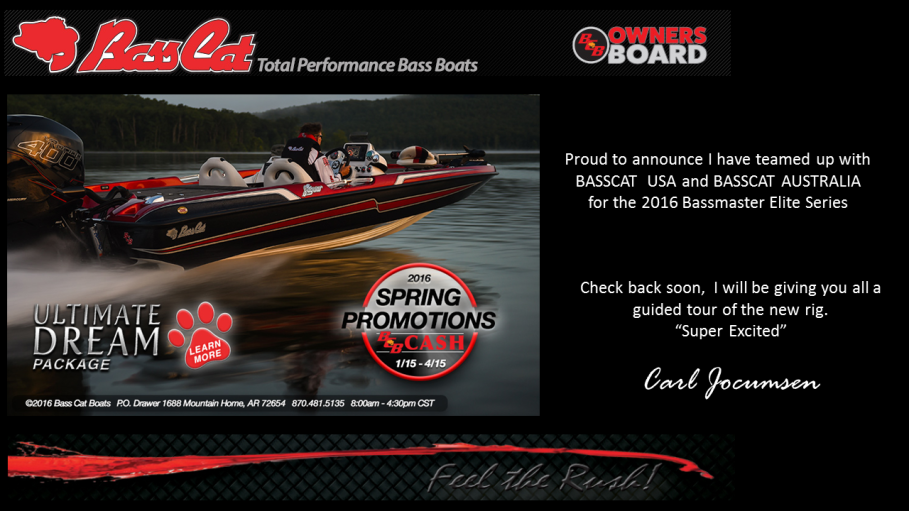 Basscat for 2016 Bassmaster Elite Series