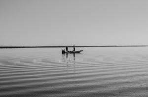 Carl in open water