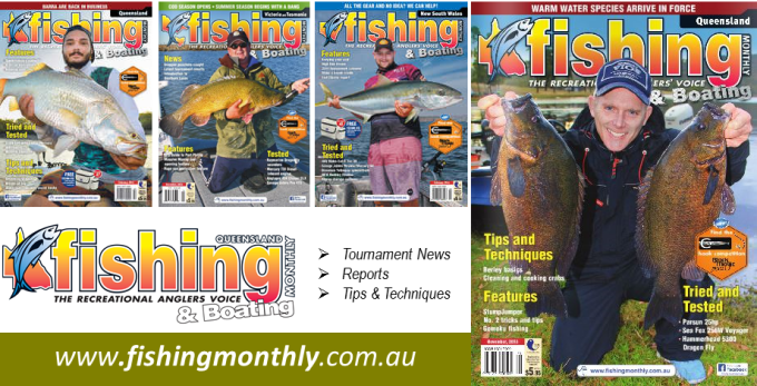Fishing monthly advertisement