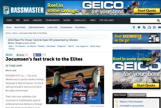 Bassmaster Fast Tracking to the Elites