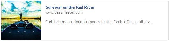 Red River Bassmaster Blog