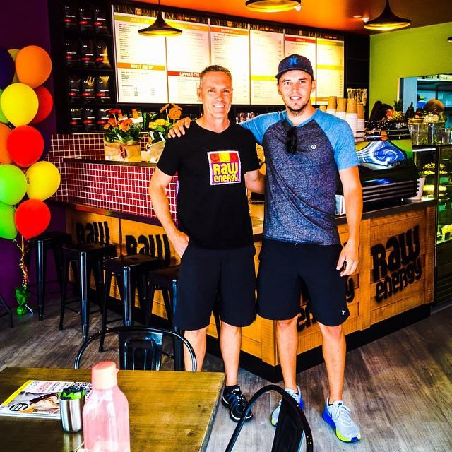 David Green and Carl Jocumsen at the new eatery Raw Energy Toowoomba
