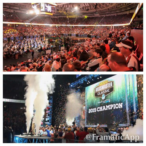 Huge crowds at the 2015 Bassmaster Classic