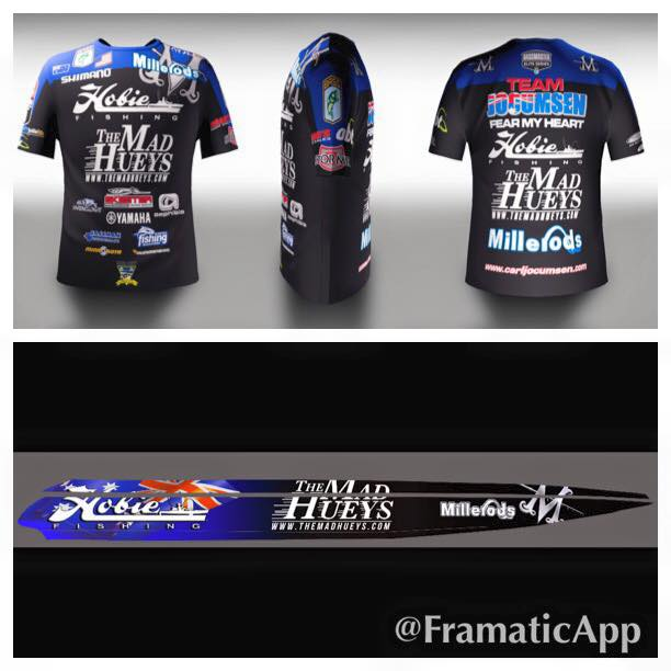 New look for 2015 carl jocumsen for Rayjus fishing jerseys
