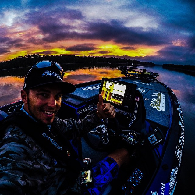 Official practice for the Bassmaster Elite on Kentucky Lake starts now