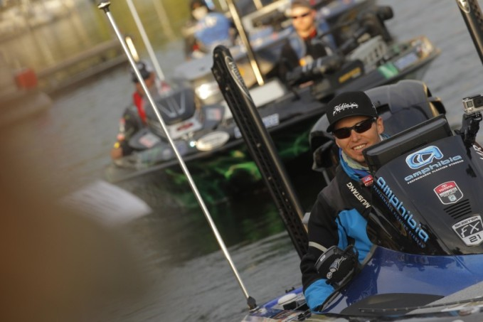 Aussie Carl Jocumsen is all smiles for the first day of BASSfest. Photo James Overstreet