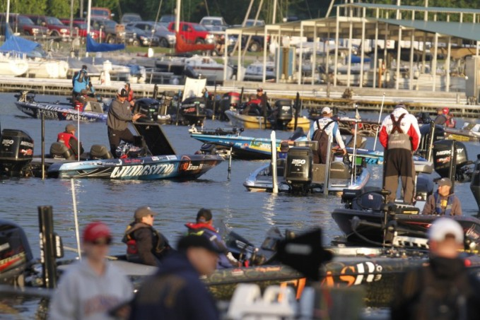 With a large field, it's boats on boats in the pier area. Photo James Overstreet