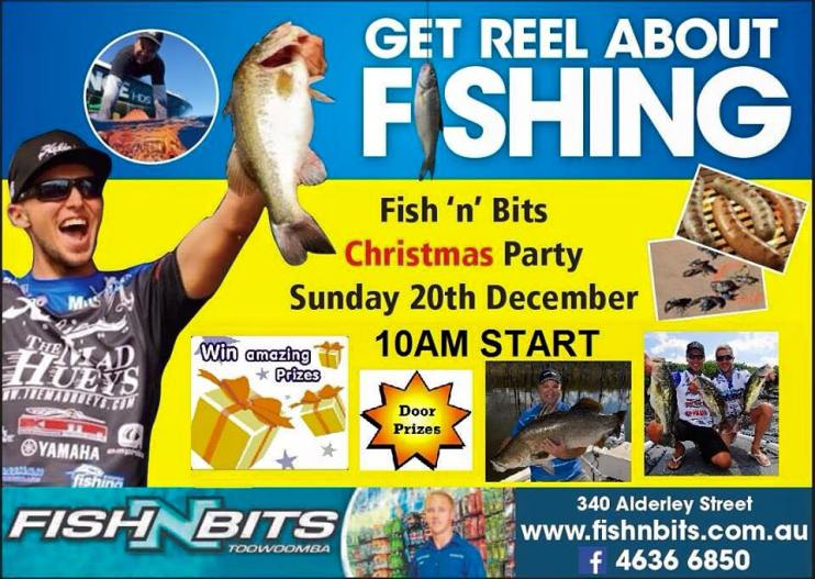 I'll be at Fish n Bits Bait and Tackle with my good mate Jas Wilhelm