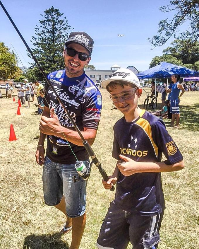 Nothing better than teaching kids how to cast and getting them keen about fishing!