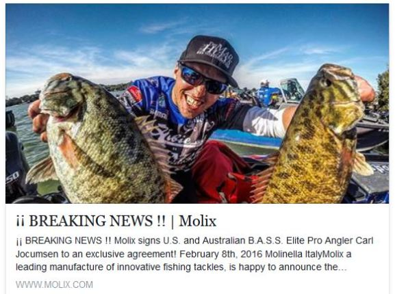 Super pumped to sign with Molix for the 2016 Bassmaster Elite Season