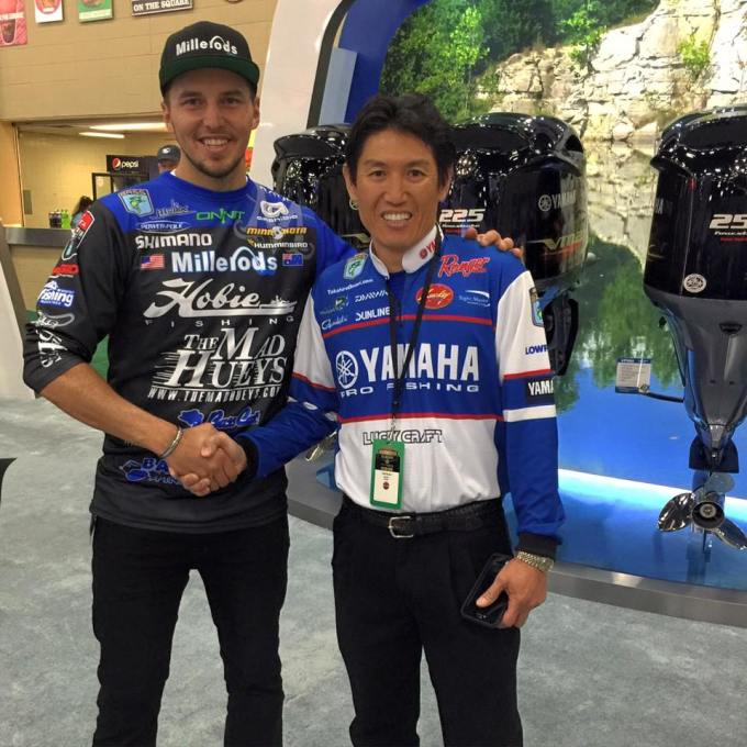 Takahiro Omori at Yamaha Outboards at Bassmaster Classic Expo 2016