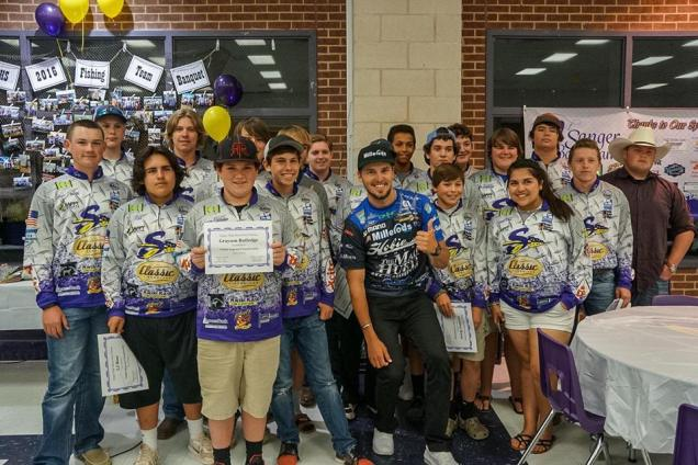Sanger high school bass fishing club carl jocumsen for High school fishing