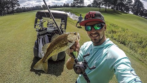 Elite angler goes golfing!
