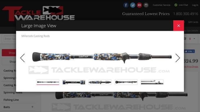 Millerods are now available at Tackle Warehouse